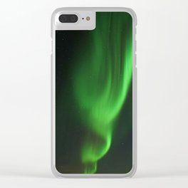 The Pattern of Aurora Light Clear iPhone Case