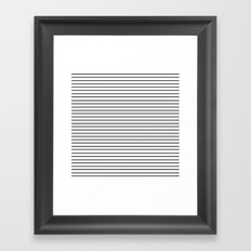 Minimal Stripes Framed Art Print