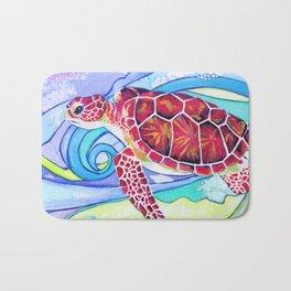 Surfin' Turtle Bath Mat
