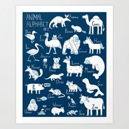 Animal Alphabet #2 Art Print