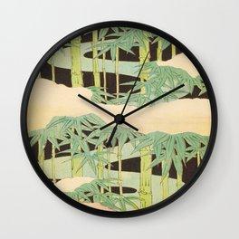 Shin-Bijutsukai – Japanese Design Bamboo At Night Wall Clock