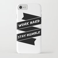 work hard iPhone & iPod Cases featuring Work Hard by WellHued
