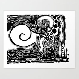 Together, We Are Fossils by Kaitlyn Larson Art Print