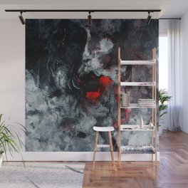 Red and Black Minimalist Abstract Painting Wall Mural