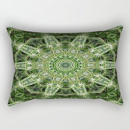 Spider Plant Kaleidoscope Art 4 Rectangular Pillow