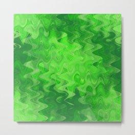 Wave pattern green Metal Print