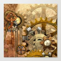 steampunk Canvas Prints featuring steampunk by Ancello