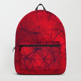 Red Galaxy Abstract Backpack