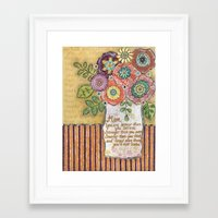 mom Framed Art Prints featuring Mom by Jamie Morath Art