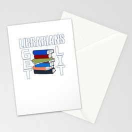 Librarians Get Lit - Librarian Pun Stationery Cards