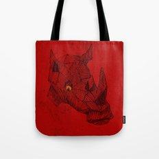 Red Rhino Tote Bag