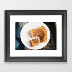 grilled love Framed Art Print