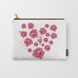 Floral heart of roses Carry-All Pouch