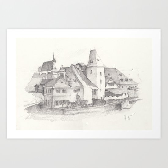 The Magic Town Art Print