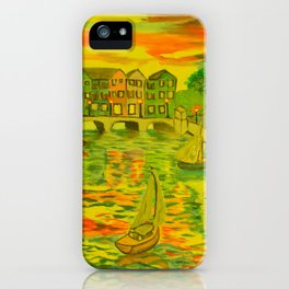 HarborSide Oil Painting iPhone Case
