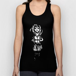 black ridding hood Unisex Tank Top
