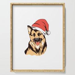 Deutscher Schäferhund Weihnachten Geschenk Serving Tray