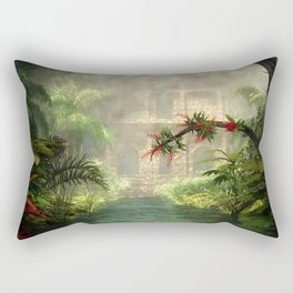 Lost City in the jungle Rectangular Pillow