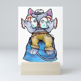 Sailor Cat Mini Art Print