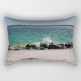 Teal Rapture Rectangular Pillow