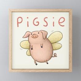 Pigsie Framed Mini Art Print