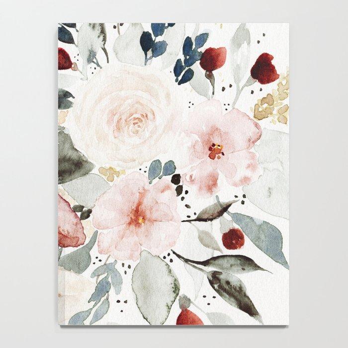 Loose Watercolor Bouquet Notebook