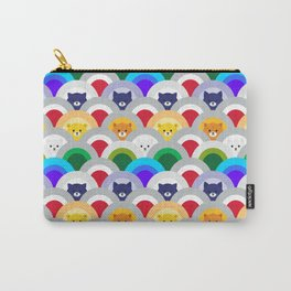 Japanese Wave Pattern cat Rainbow Carry-All Pouch
