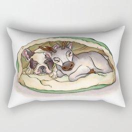 Bubba & Sleeping Reindeer Rectangular Pillow