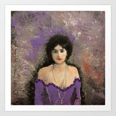 THE MOST BEAUTIFUL WOMAN Art Print