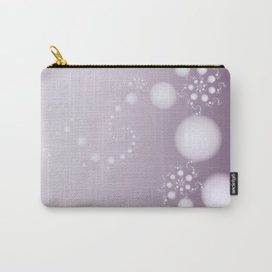 Fractal Pearls in Lavender Carry-All Pouch