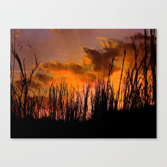 Fall's First Sunset Canvas Print