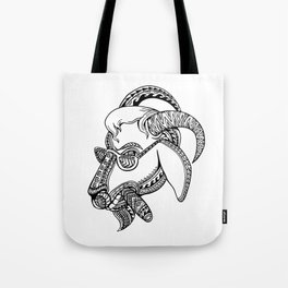 Goat Cigar Tribal Tattoo Style Tote Bag
