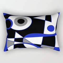 Abstract #505 Blue Rectangular Pillow
