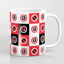 F-Bombs Prohibited, No F-bombs by Dennis Weber of ShreddyStudio Coffee Mug