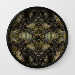 Surrounded by Lava Wall Clock