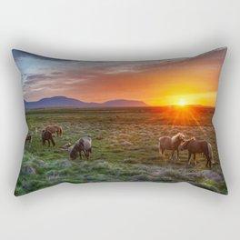 Wild Horses Sunset Rectangular Pillow