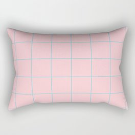 Citymap Grid - Pink/Blue Rectangular Pillow