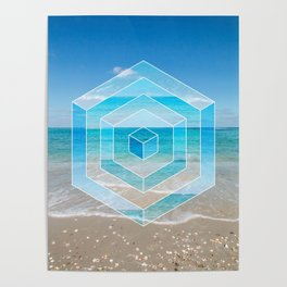 Sacred Geometry Seaview Poster