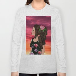 Rosa and Her Mexican Sunset Long Sleeve T-shirt