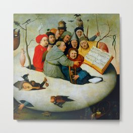 "Hieronymus Bosch ""The Concert in an Egg"" Metal Print"