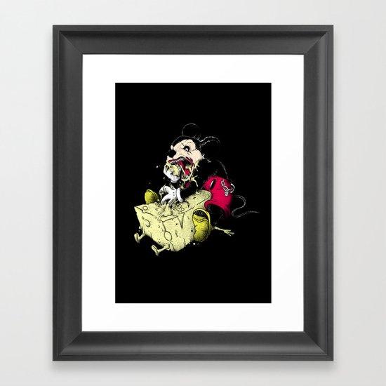 Mickey Gone Wild Framed Art Print