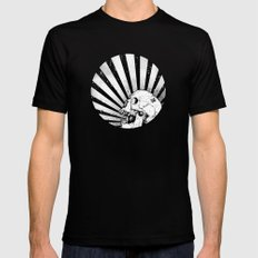 Kamikaze Skull Black Mens Fitted Tee MEDIUM