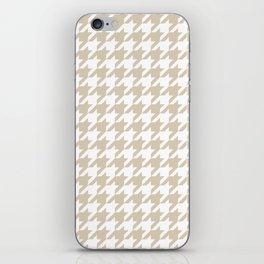 Houndstooth: Beige & White Checkered Design iPhone Skin