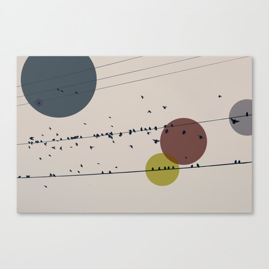 Chaos On The Wires Canvas Print