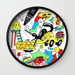 paintpaintpaint Wall Clock