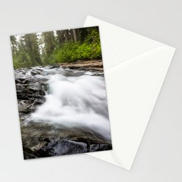 Rush - Paradise River Rushes to Falls in Mt. Rainier National Park Stationery Cards