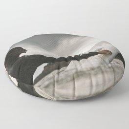 Surf grey photo Floor Pillow
