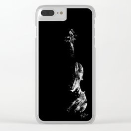 The white violin Clear iPhone Case