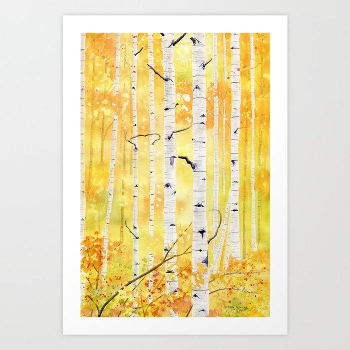 Autumn Birch Kunstdrucke