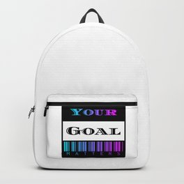 Simple Text Art Design-Your Goal Matters Backpack
